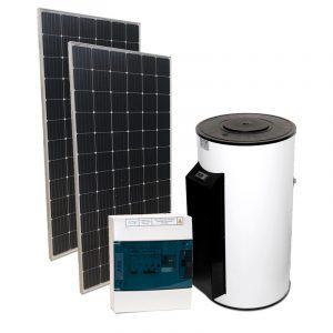 IDEA unifamiliar - Kit para calentar agua con paneles solares fotovoltaicos
