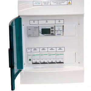 Detalle de cuadro eléctrico Accumula Energy CDP4 con IOT